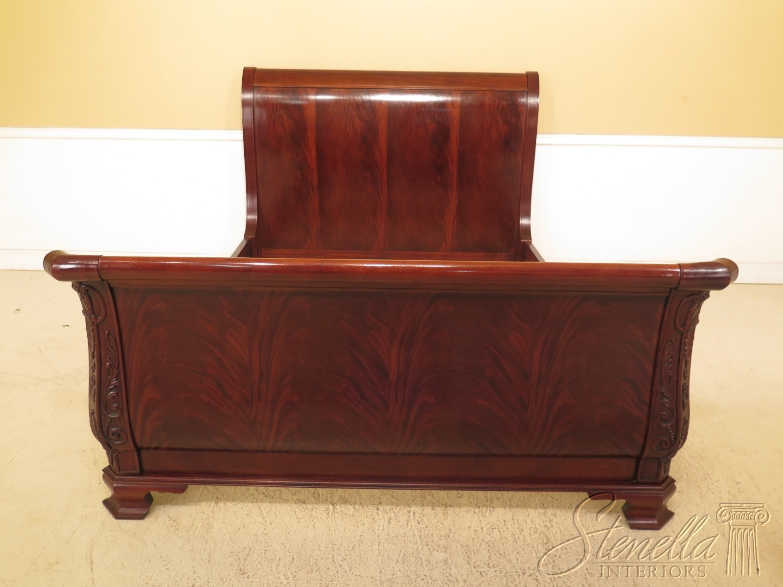 Outstanding Details About 47185Ec Hickory Chair Co Queen Size Mahogany Sleigh Bed Pabps2019 Chair Design Images Pabps2019Com