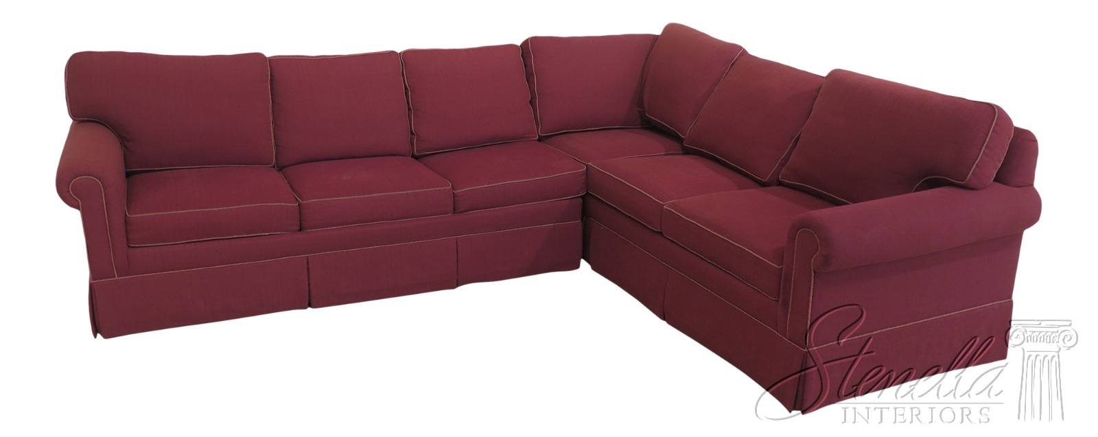 Red Upholstered Sectional Sleeper Sofa