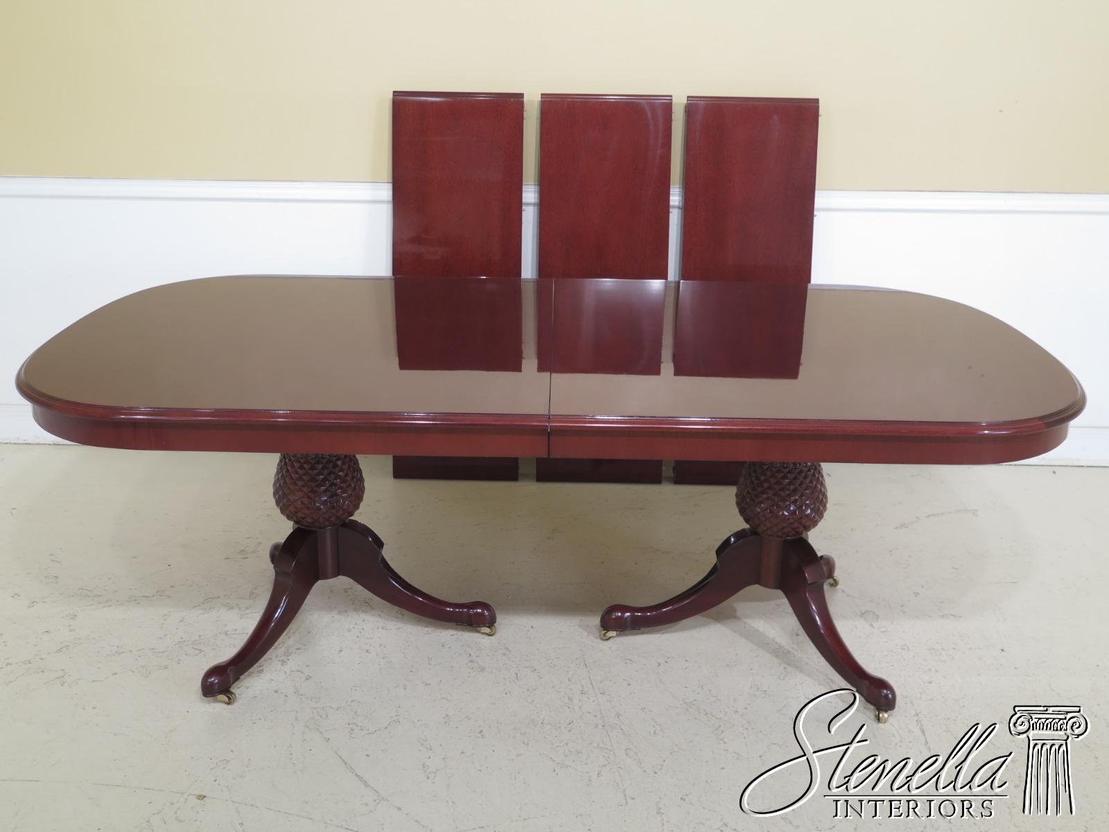 L47845ec Kindel Varney Collection Pineapple Base Mahogany Dining Room Table Ebay