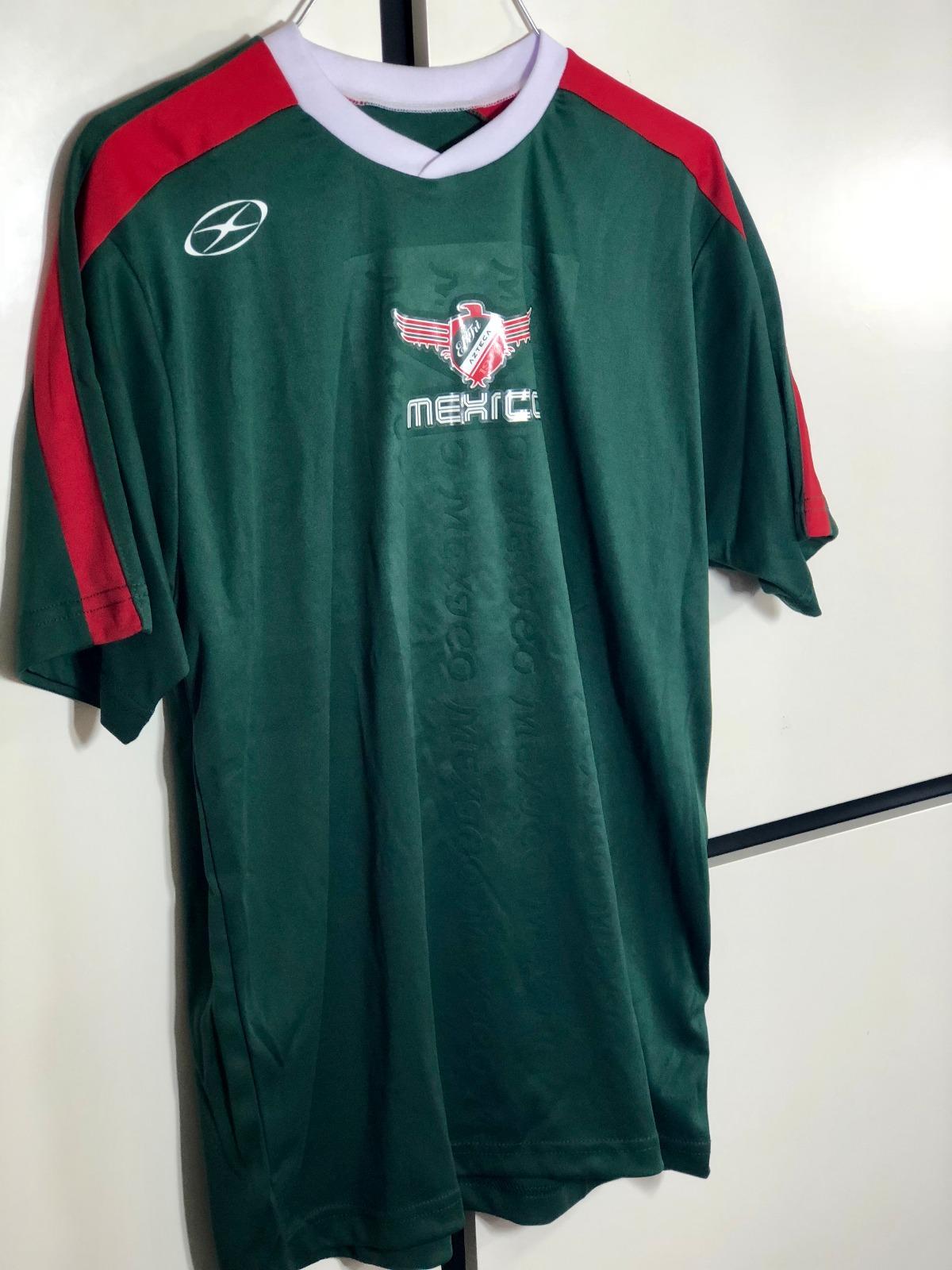 b7fe7d996 Xara Soccer Jersey Mexico Azteca Green T-Shirt Size Small International  Shirt