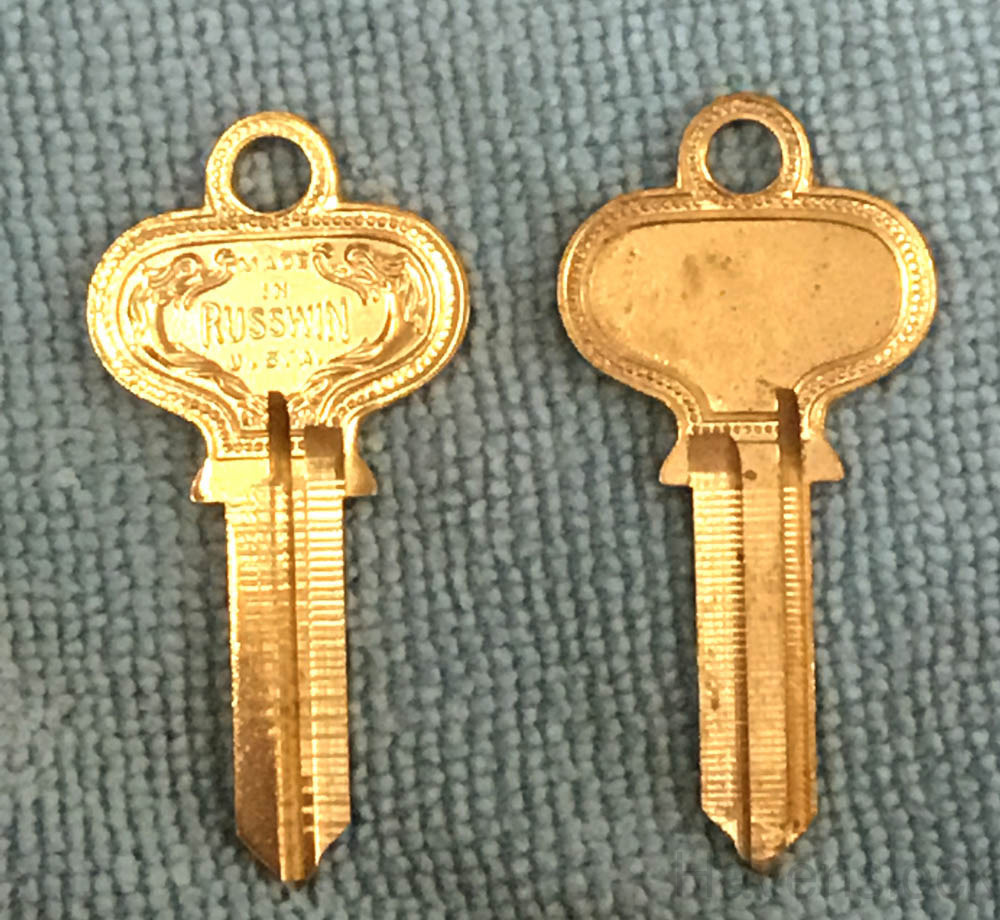 Russwin Old Fancy Vintage Original Key 582R, Ilco