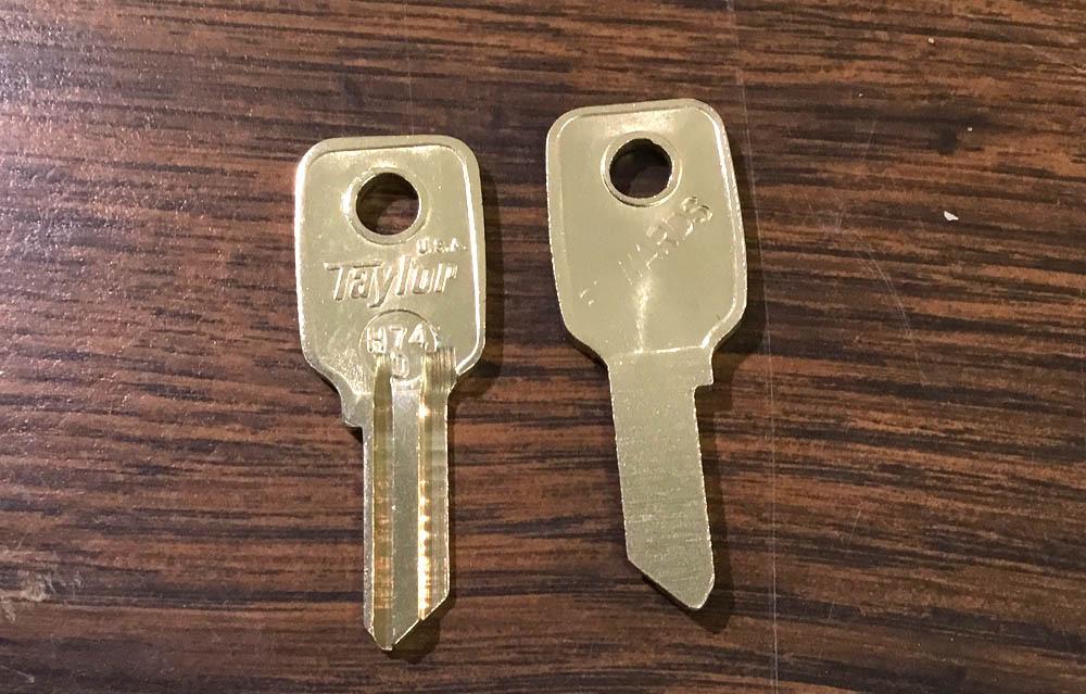 Vintage Auto Key H74D (CURTIS HD26)  for Honda (Se
