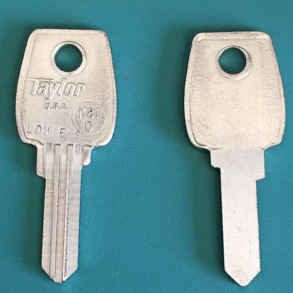 Vintage-Collectors Key Blank Taylor K81D ( Ilco LF