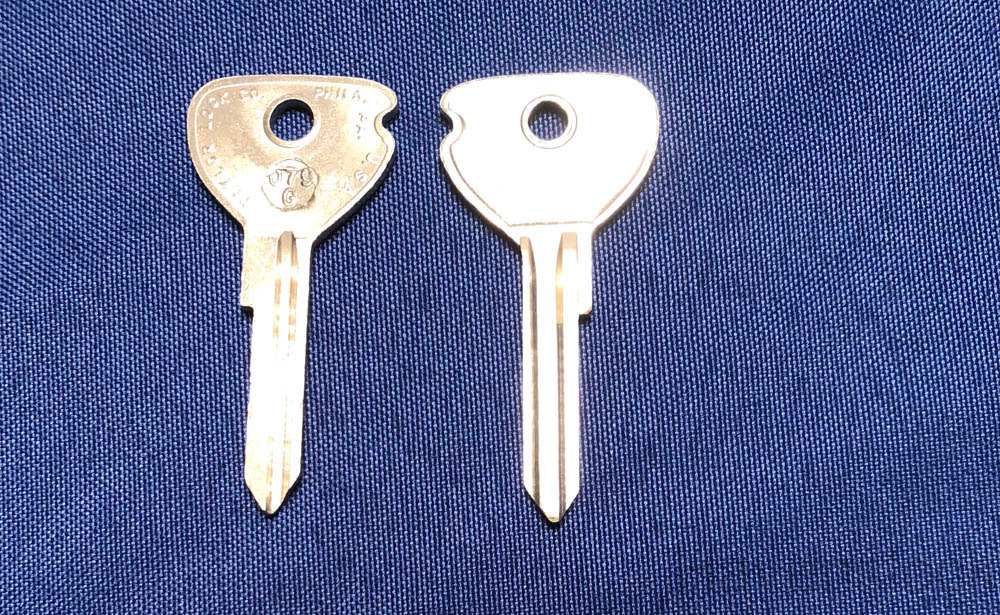 Vintage Auto Key 079G (DL YM9)  for Opel (See Char