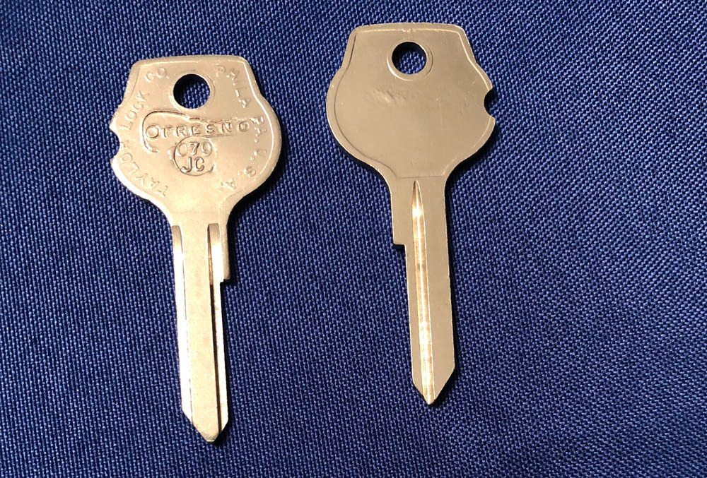 Vintage Auto Key 079JC (DL HF10)  for Opel (See Ch