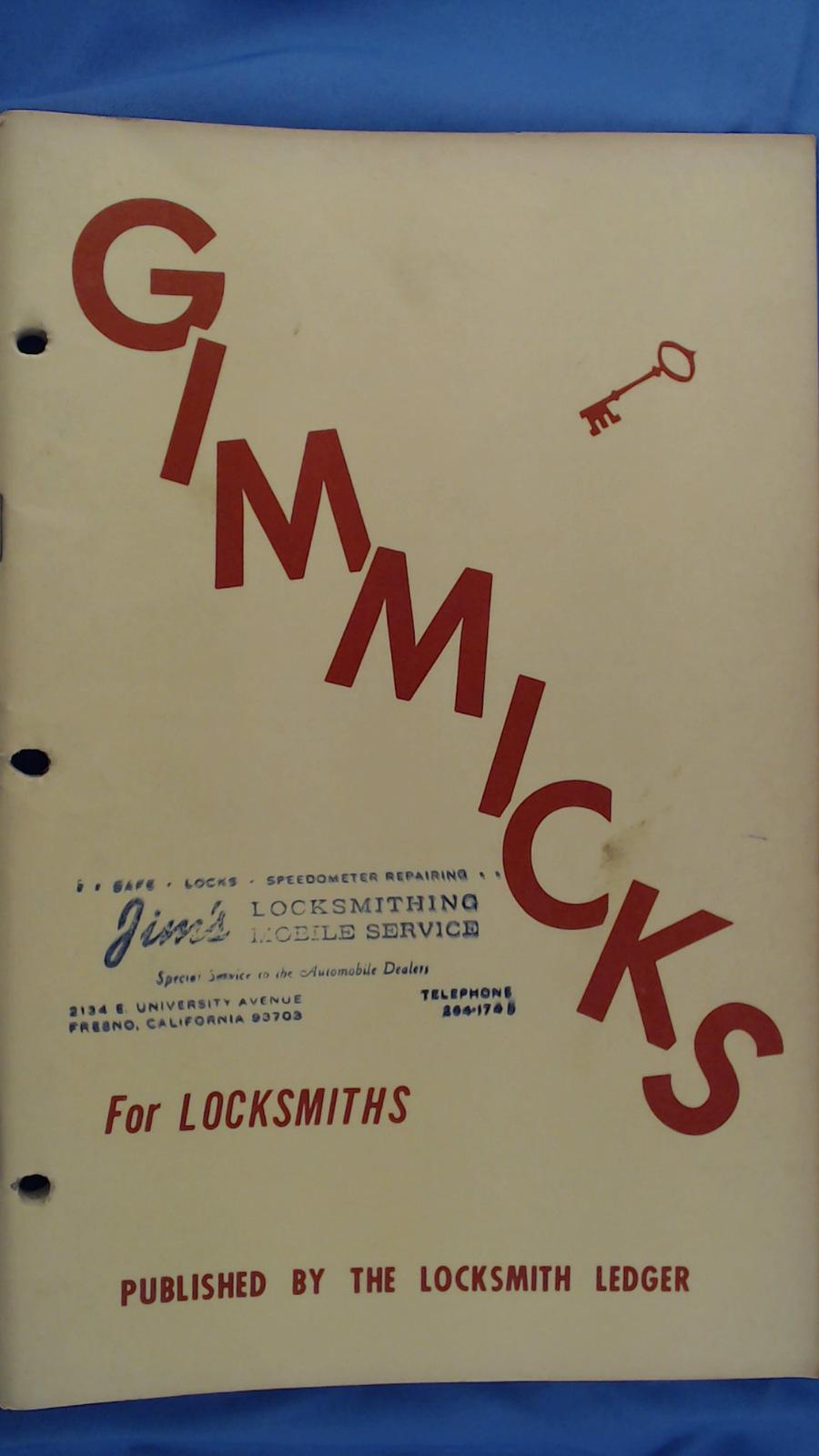 Gimmicks for Locksmiths (Vintage, Locksmithing, Ho