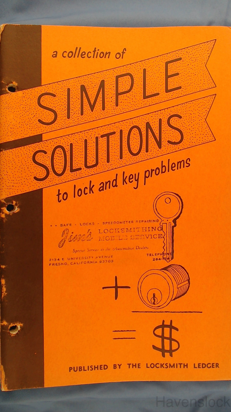 Simple Solutions (Vintage, Locksmithing, How-Tos)