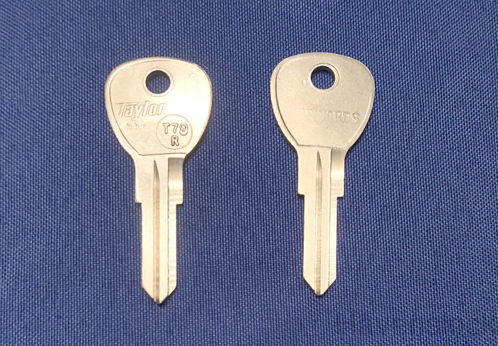Vintage Auto Key T79R (DL HR62FD)  for Ford (See C