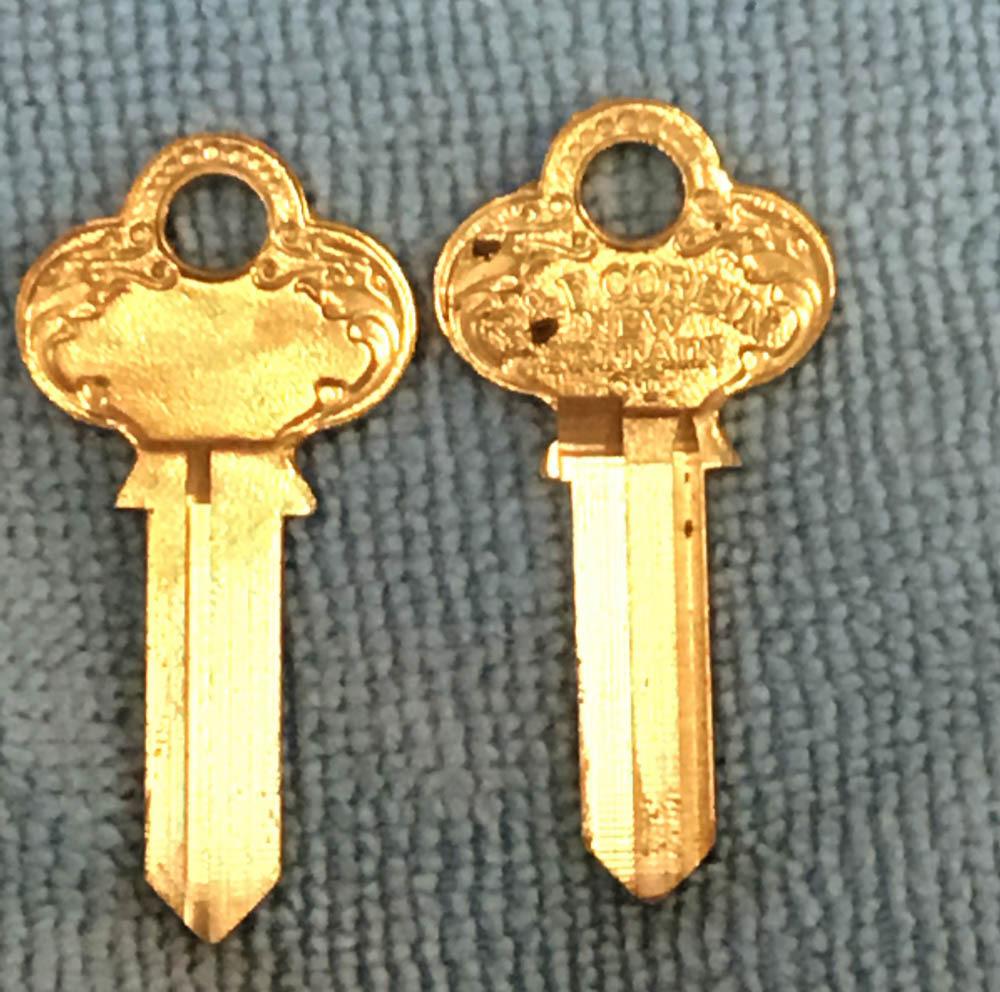 P&F Corbin Old Fancy Vintage Original Key ZA-59AZ-