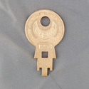 Vintage Concentric Tube Lock key #1254 from Wise L
