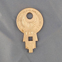 Vintage Concentric Tube Lock key #1345 from Wise L