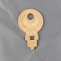 Vintage Concentric Tube Lock key #1346 from Wise L