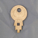 Vintage Concentric Tube Lock key #1355 from Wise L