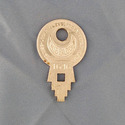 Vintage Concentric Tube Lock key #1646 from Wise L