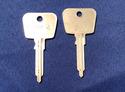 Vintage Auto Key A81L (DL HF34, ILCO PO7) Porsche