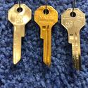 2 Chrysler Vintage Key Blanks Primary 1949-55 Ilco