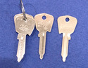 Vintage Auto Key J81J (DL KL2) for Capri-Ford & Ja