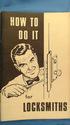 How To Do It For Locksmiths (Vintage, Locksmithing