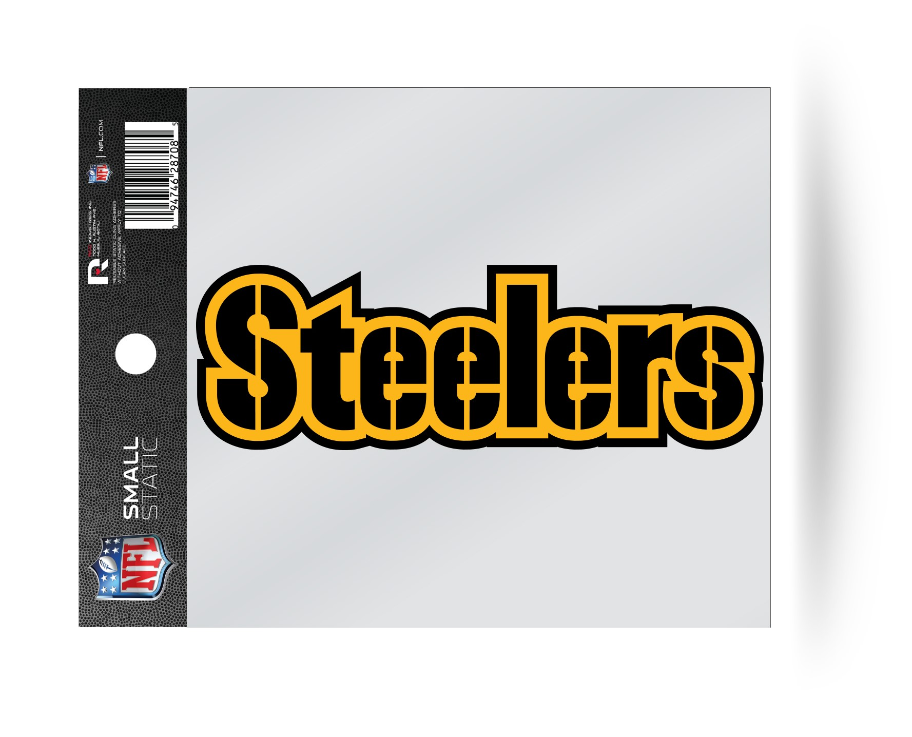 0cd98795 Details about Pittsburgh Steelers Wordmark Logo Static Cling Sticker NEW!!  Window or Car!