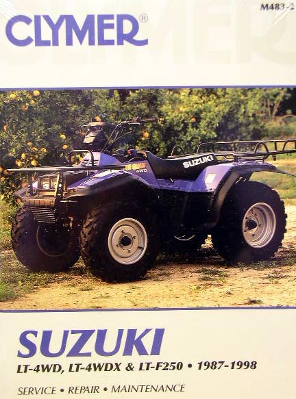 new suzuki atv lt4wdx lt300 300 king quad repair manual | ebay