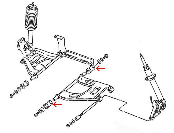 datsun rear suspension inner bushing set  240z 260z 280z