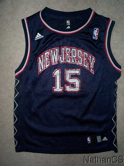various colors 22c4f 1ec6d Details about ADIDAS New Jersey NJ Nets VINCE CARTER nba THROWBACK Jersey  YOUTH KIDS BOYS (4)