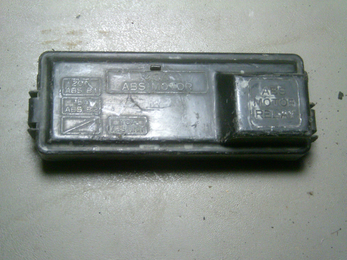 94 1994 Honda Accord Abs Anti Lock Brakes Fusebox Fuse Box Lid Ebay From A Lx Station Wagon