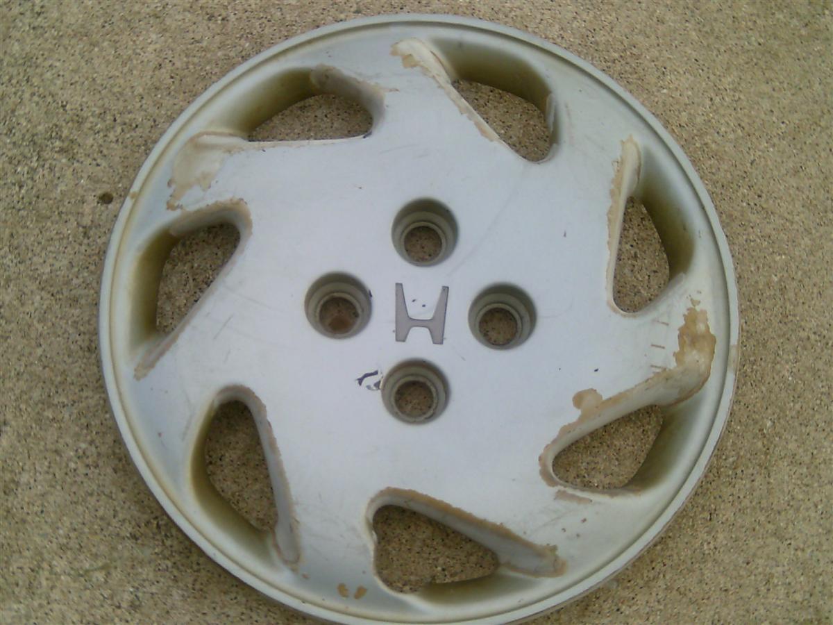 14 Honda Hubcaps >> 92 97 Honda Civic 14 7 Spoke Wheel Cover Hub Cap Peeling
