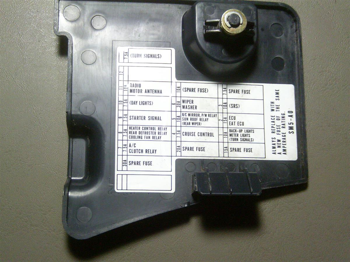 Fuse Box 93 Honda Accord Free Wiring Diagram For You 1990 90 91 92 Blue Interior Dash Cover On 1993