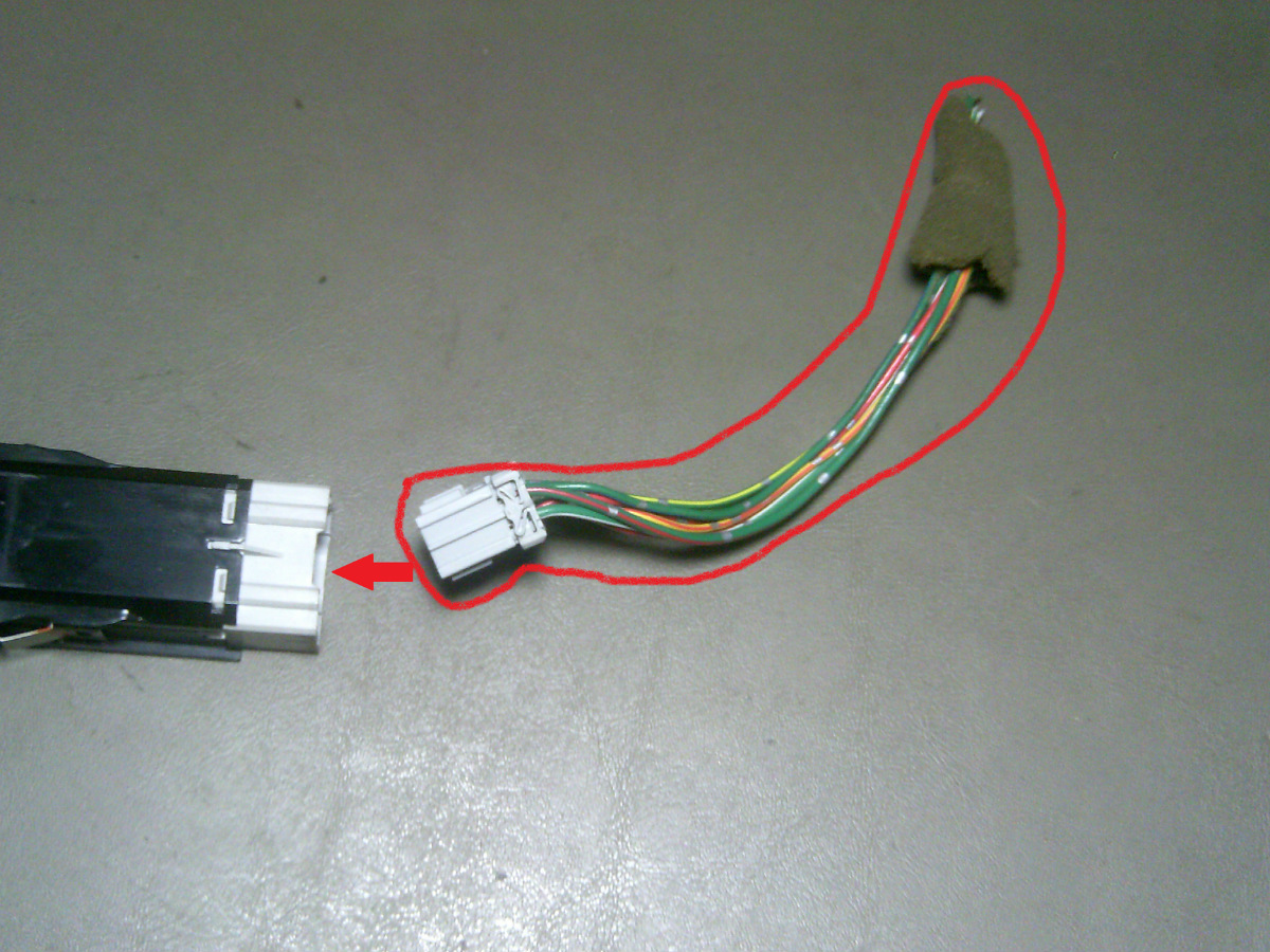 98 Honda Accord EX 4 Door Hazard - Hazzard Switch Pigtail - Wires ...