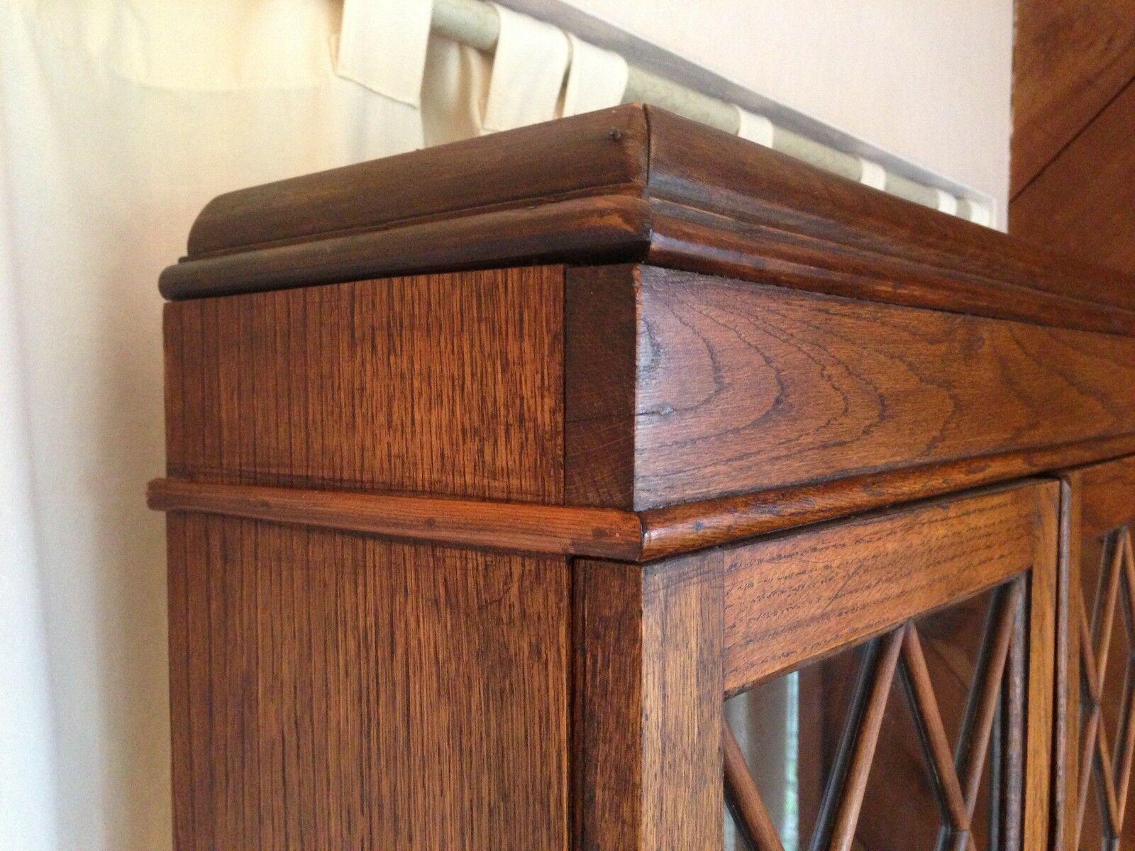 George III Antique Secretary Bookcase Desk 19th C