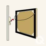 New heavy duty picture mirror hanging kit for earthquake for Mirror hanging kit