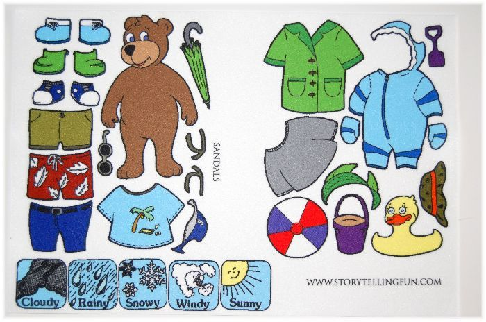 Details About Mr Weather Bear Felt Flannel Board Set New