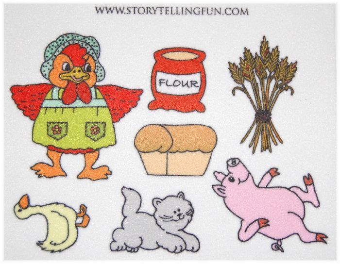 Details about The Little Red Hen Felt / Flannel Board Set