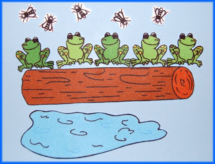 song 5 frogs on a log recipe