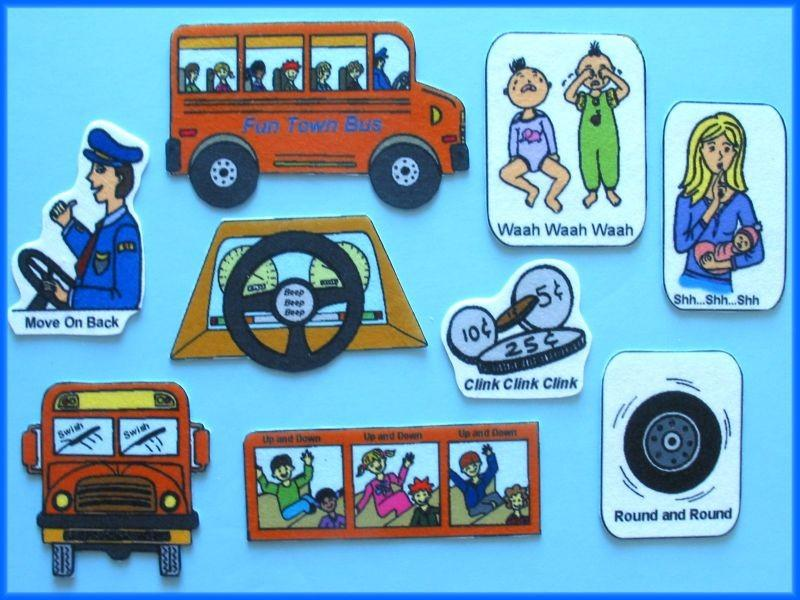 The Wheels On The Bus - Felt Flannel Board Set NEW!