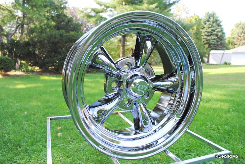 "15x4 ""American Racing Torq Thrust Chrome 5 on 4 5 Bolt Pattern Ford Wheel"