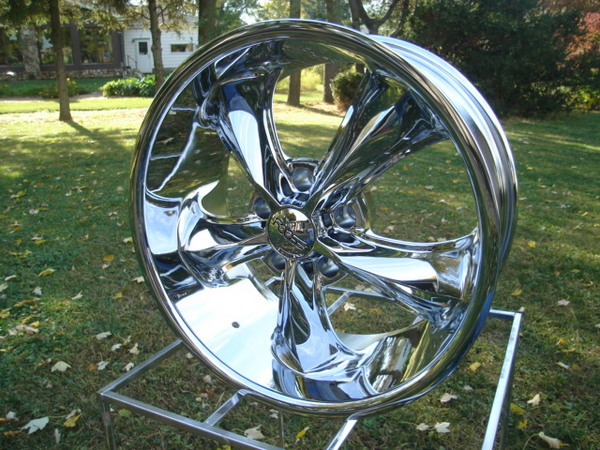 FOOSE LEGEND 1)17x8 CHEVY GMC 5 LUG TRUCK WHEELS CHROME NEW