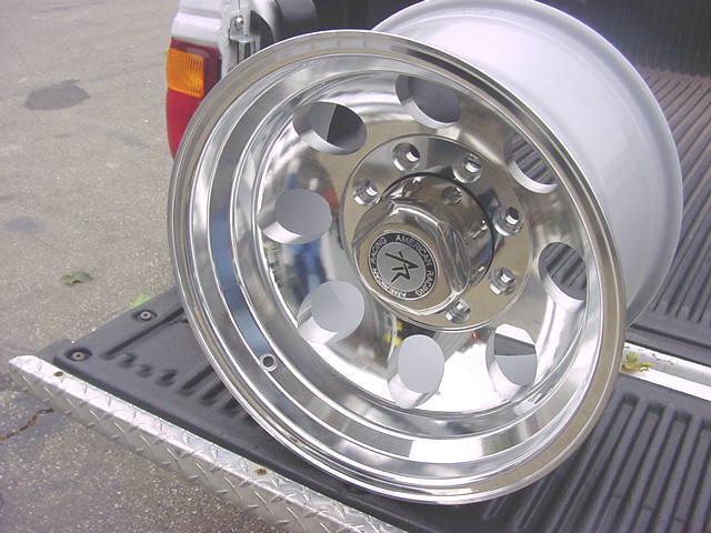 16x10 Polished Bajas' 8 Lug Ford Wheels Chevy Dodge Genuine American Racing