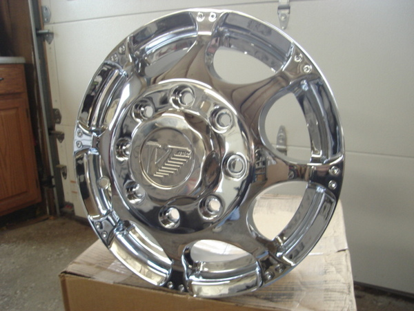 """Vision Dually """"Chrome"""" Wheels Ford Chevy Dodge 16"""
