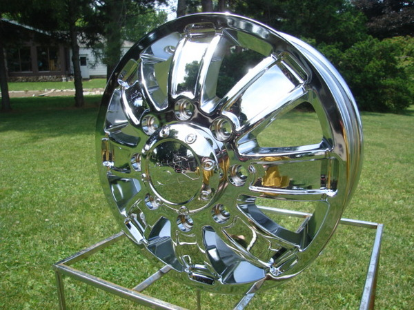 16 FORD CHEVY DODGE DUALLY CHROME WHEELS ION 166 SERIES FULL SET OF 4