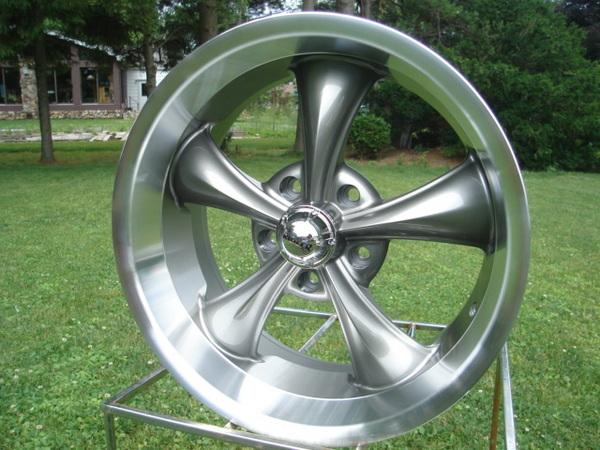 695 Gunmetal Grey Hot Rod Wheels Chevy GM Buick Old 5 on 4 75