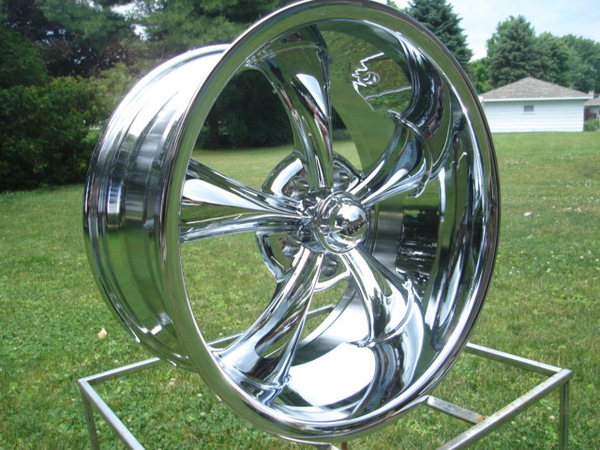 20x8 5 Ridler Hot Rod Wheels Ford Chevy Chrome Chevy GMC Truck 5 on 5