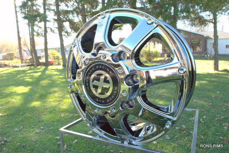 Racing ATX 189 Ledge Dually 16 x 6 Ford 99 04 Wheels Chrome