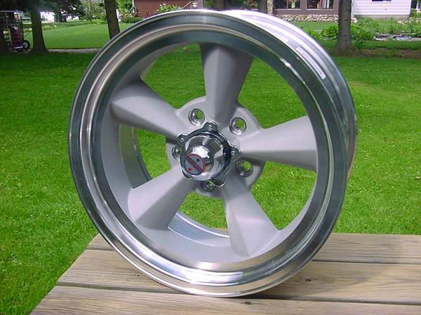 "17""x 8""American Racing Torq Thrust Wheel s TTO 5 on 4 75 Chevy GM Buick"