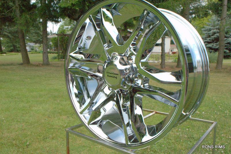 20x8 5 Ford F150 Mainline American Racing Wheel High Offset Chrome 6