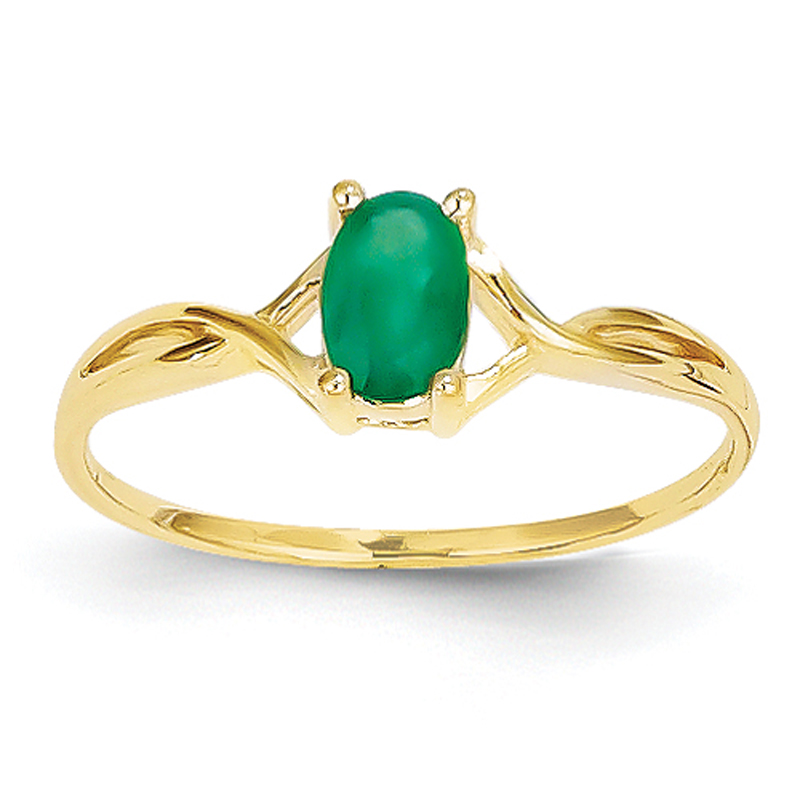david jewelers 14k yellow gold emerald ring