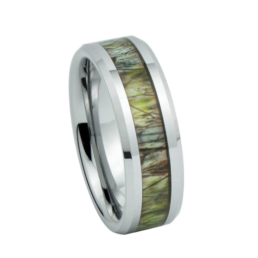 David Jewelers Unisex Camo Hunting Tan/ Brown Camouflage 7mm Tungsten Wedding Band Ring Size 8 at Sears.com