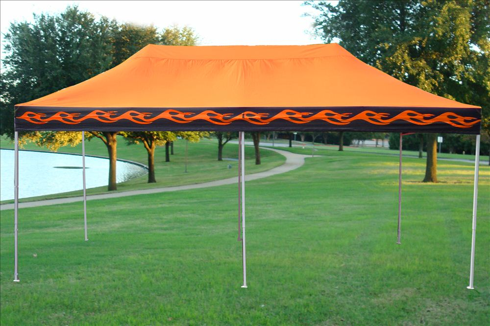 10 X 20 Pop Up Canopy Party Tent Gazebo Ez Orange
