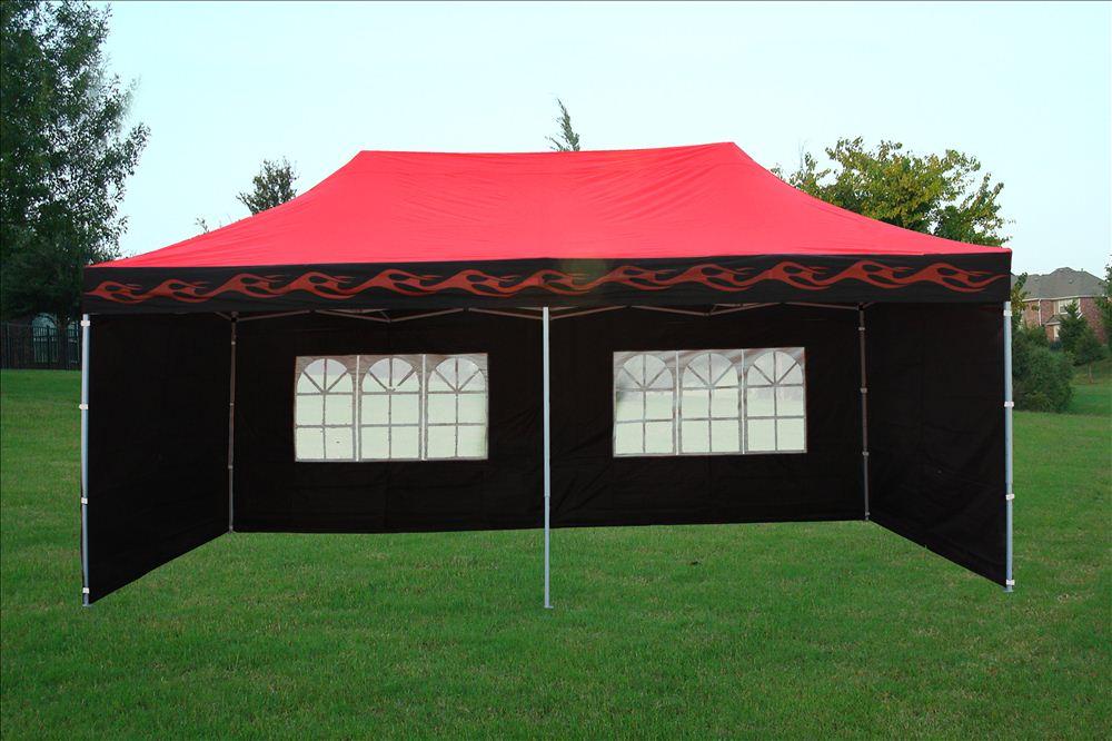 Enclosed Car Canopy 10x20 : X enclosed pop up canopy party folding tent gazebo